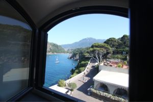 Actualy the view from our room at the Mezzatorre. Couldn't find the one from Punta Chiarito. But you get the idea.