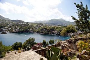 The view of Ischia from the Castello