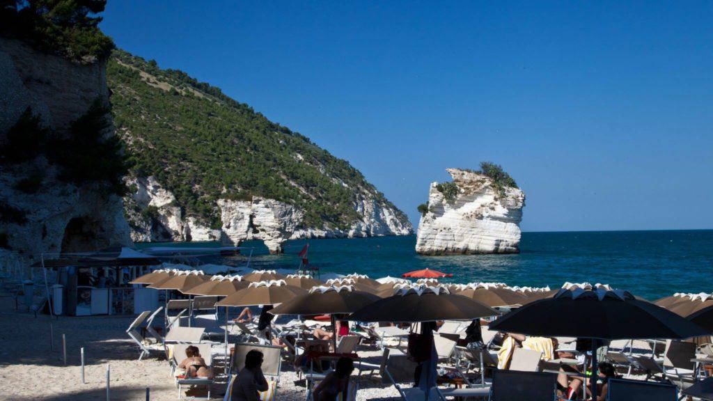 The beach at Baia die Faraglioni