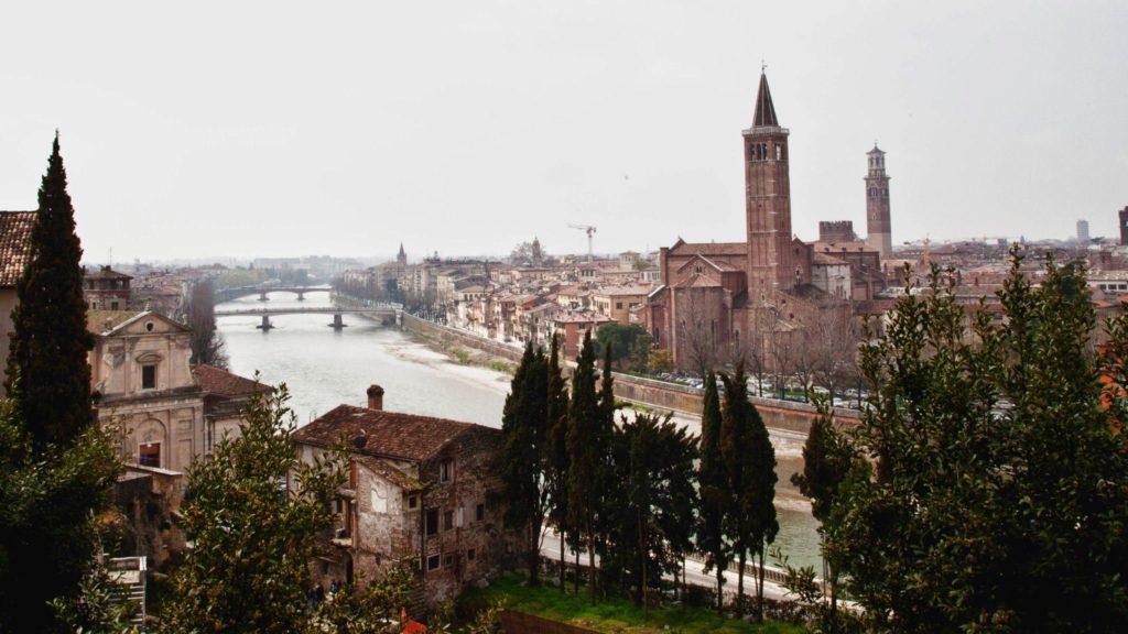 The view of Verona from Il Teatro Romano