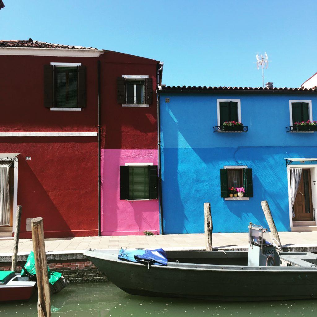 Houses on Burano.
