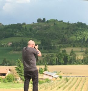 Photographing the Savigno countryside